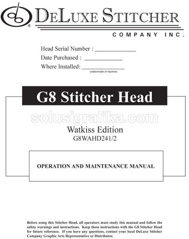 Deluxe G8Watkiss-Instruction-Maint-Parts