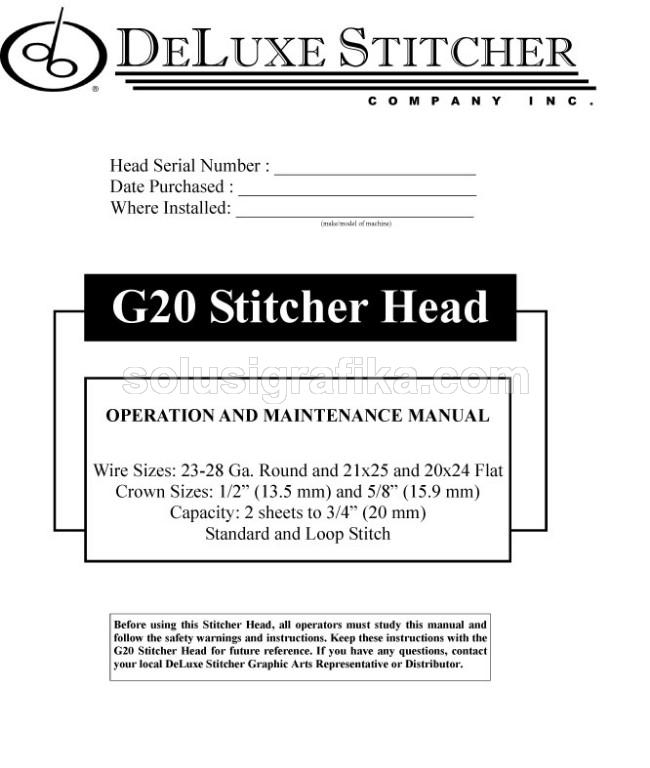 Deluxe G20 - Manual