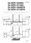 MANUAL BOOK - OLIVER 266EII/EPII/272EII/EPII